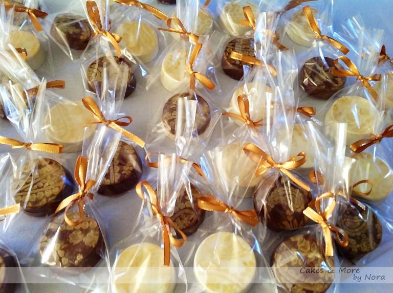 chocolates con oro